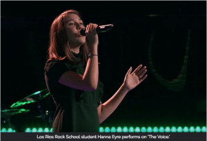 "Los Rios Rick School student Hannah Eyre performs on ""The Voice"""