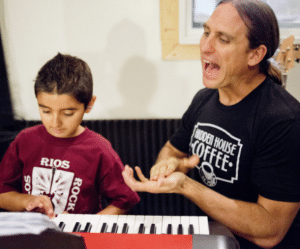 one-on-one private keyboard lessons with LRRS instructor