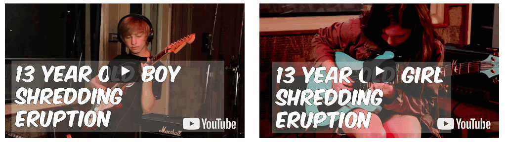 13 Year-Olds Shredding Eruption