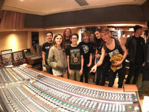 LRRS Students record Van Halen with Aerosmith Producer at Sunset Sound!